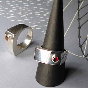 Red Shape Silverring