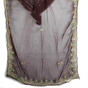 Brunröd Rajastani Sari