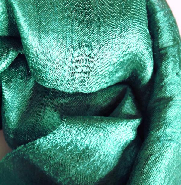 Myntagrön Festlig Sidensjal