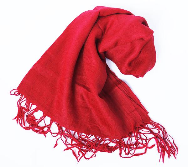 Röd UllSjal Elle