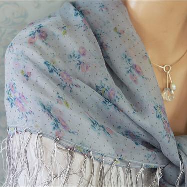 Blå 4-kantig Sjal Romantik