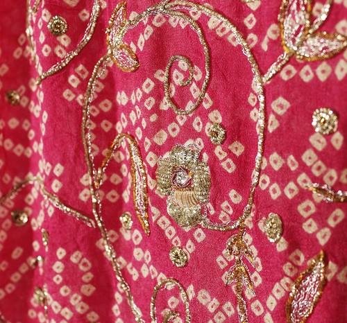 Rosa-Grå Indisk Dupatta
