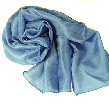 Azurblå Sidenscarf Isa
