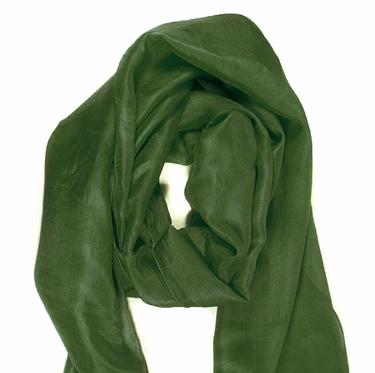Mossgrön Sidenscarf Isa 10+