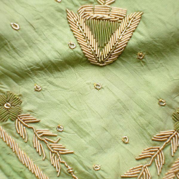 Ljusgrön Indisk Dupatta