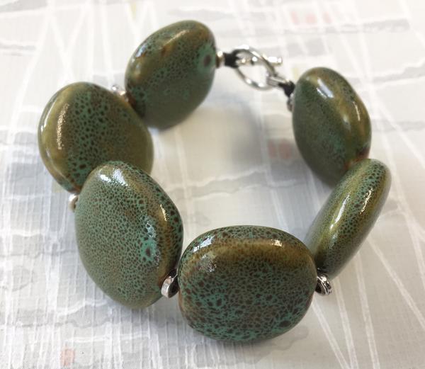 Keramikarmband Maffig Grön