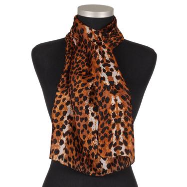 Leopard Brun-Svart Sidensjal Linda Lykke