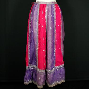 Violett-Cerise Indisk Kjol/Lehenga