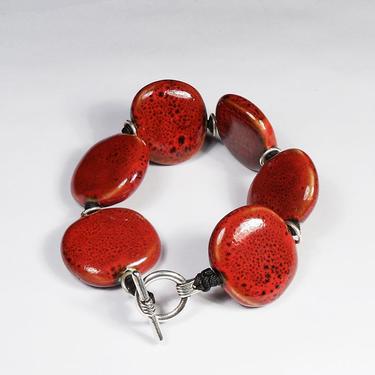 Keramikarmband Maffig Röd