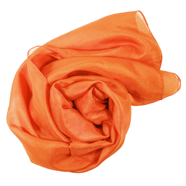 Orange Sidenscarf Isa