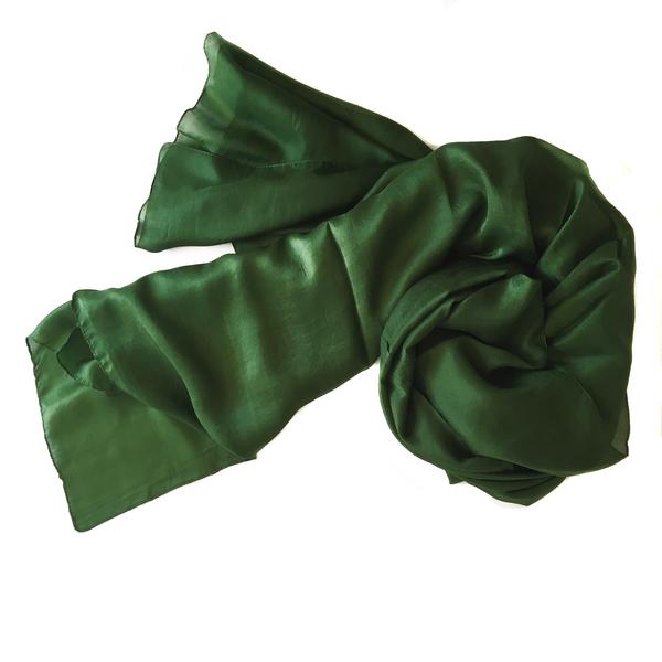 Mörkt Grön Sidensjal Belle 2:a sort.