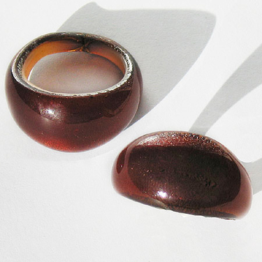 Brun Glasring Small