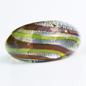 Lime-Brun Glasring Small