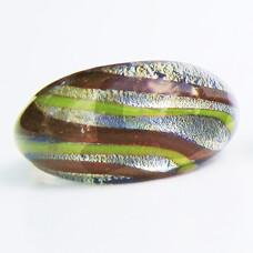 Lime-Brun Glasring Medium