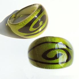 Maffig Grön Spiral Large