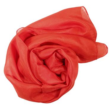 Röd Sidenscarf Isa