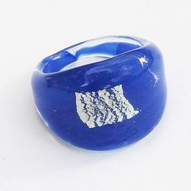Blå Ruta Glasring Large
