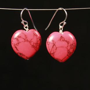 Rött Örhängen Hjärta
