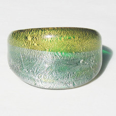 Moon Grön Glasring Medium