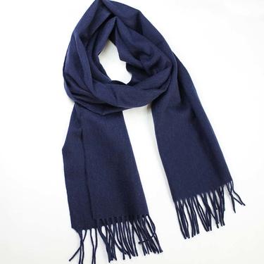 Marinblå halsduk Kashmir & Ull