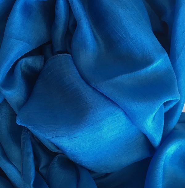 Blå Sidensjal Belle