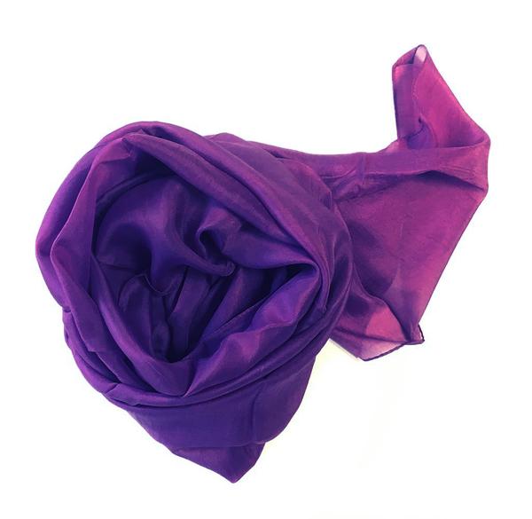 Mörk Violett Sidenscarf Isa