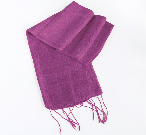 Violett Sidensjal Galej