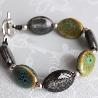 Keramikarmband Oval Grå-Grön