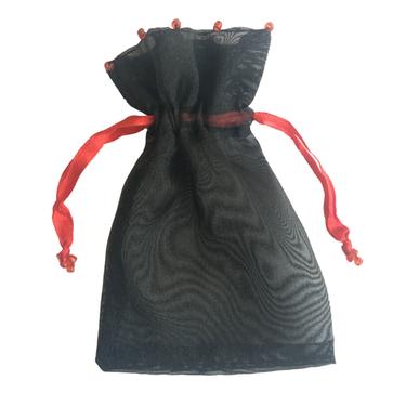 Smyckespåse Röd-Svart Stor