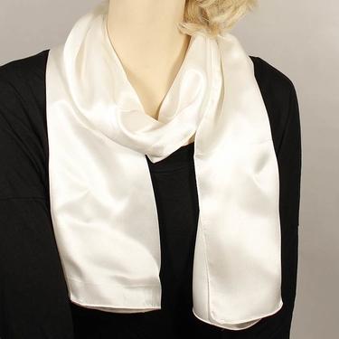 Vit Sidensatinscarf