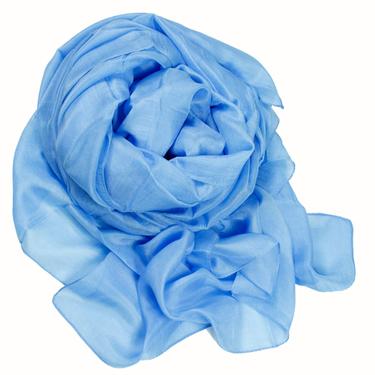 Linblå Sidensjal Belle