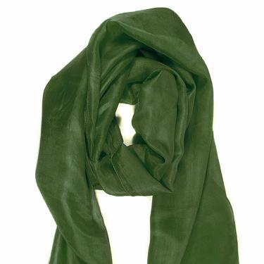 Mossgrön Sidenscarf Isa