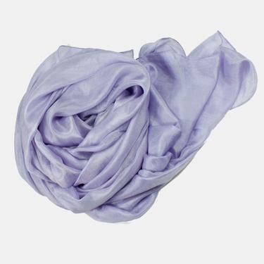Åskblå Sidensjal Belle