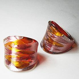 Maffig Röd Glasring Large