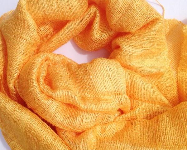 Orange Sidenscarf Fina