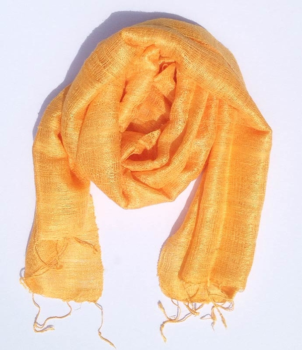 Orange Sidenscarf Fina