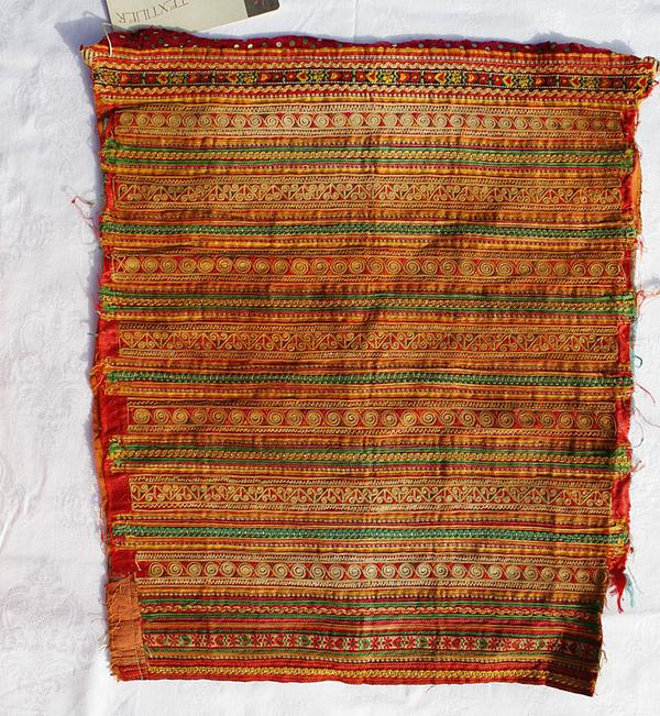 Vintage Textil Hmongdräkts Ärm