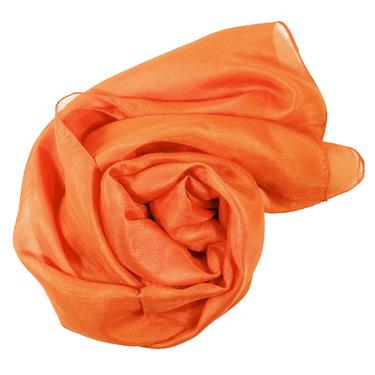 Orange Sidenscarf Isa 2:a sort.