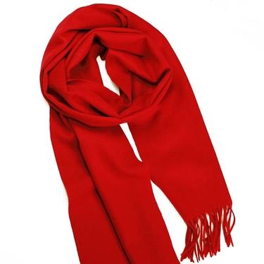 Röd  Cashmere Halsduk