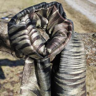 Brun-Svart Silkes Ikat