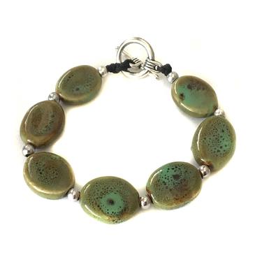 Keramikarmband Oval Grönt